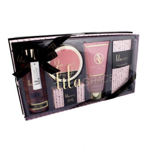 Luxury Italian Bath & Body Pampering Giftset - Lila Grace Beauty Set Vanilla Rose